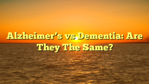 Alzheimer's vs Dementia: Are They The Same?